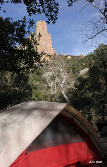 Cave Creek Canyon campsite