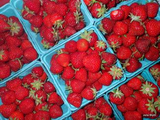 strawberries for the market